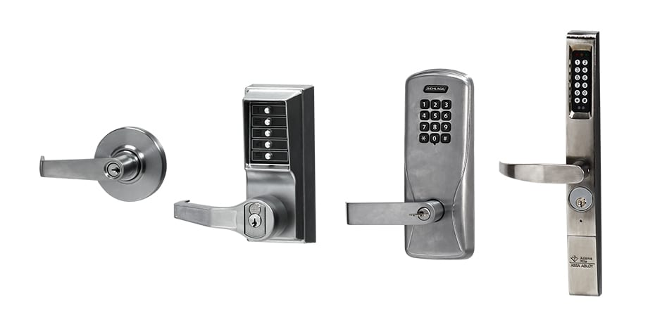 door handle and lock options