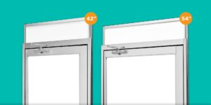 Multiple widths doors for panels